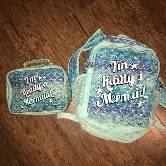 Justice Accessories Mermaid Backpack And Lunchbox Poshmark